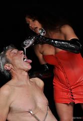 Mistress carly makes her slave produce some hot ejaculate and then pours it down his throat   mistress carly makes her slave produce some hot ejaculate and then pours it down his throat. Mistress Carly makes her slave produce some hot cumshot and then pours it down his throat.