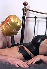 After make love her masked slaves mouth with a voluminous strapon jane then asks him to cumshotshot on her red leather boots and then lick them clean  after make love her masked slaves mouth with a voluminous strapon jane then asks him to cumshotshot on h. After fuck her masked slaves mouth with a big strapon, Jane then asks him to cumshot on her red leather boots and then lick them clean