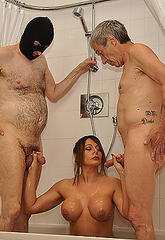 Its bathtime for mistress carly and her two slaves  after ordering them to wash her first she then cleans their cocks for them to cock sucing dry  its bathtime for mistress carly and her two slaves  after ordering them to wash her first she then cleans th. Its bathtime for dominatrix Carly and her two slaves. After ordering them to wash her first, she then cleans their cocks for them to suc dry