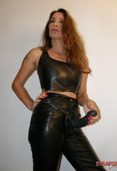 Jane posing in leather outfit and great strapon tool  jane posing in leather outfit and great strapon tool. Jane posing in leather outfit and great strapon tool