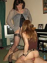 Young nude lick job