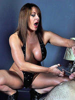 Busty mistress carly teases her slave s cock with her collection of bdsm toys then gets him ready to expload with her tongue  busty mistress carly teases her slave s cock with her collection of bdsm toys then gets him ready to expload with her tongue. Busty Mistress Carly teases her slave's cock with her collection of bdsm toys, then gets him ready to expload with her tongue