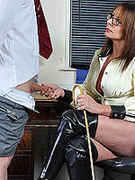 Naughty schoolboy caught wanking is sent to mistress carly s office she spanks him first then orders him to spunk all over her pussy  naughty schoolboy caught wanking is sent to mistress carly s office she spanks him first then orders him to spunk all ove. Naughty schoolboy caught wanking is sent to Mistress Carly's office, she spanks him first then orders him to spunk all over her pussy