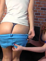 Ella hughes and jess west have some lesbian fun in their short