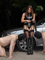 Mistress carly has her slaves worship her dirty leather boots and lick her sexy bare feet before letting them cum  mistress carly has her slaves worship her dirty leather boots and lick her sexy bare feet before letting them cum. Mistress Carly has her slaves worship her dirty leather boots and lick her sexy bare feet, before letting them cum