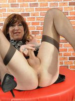 Sexy tgirl emily flashes her silky nylon stockings and leopard top before wanking her big hard cock  sexy tgirl emily flashes her silky nylon stockings and leopard top before wanking her big hard cock. Sexy TGirl Emily flashes her silky nylon stockings and leopard top before wanking her big hard cock
