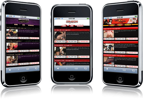 mobile web site formats for blue pixels tgirl and crossdress pay sites